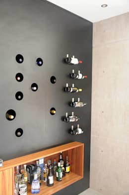 Salas de estilo industrial por Mediamadera