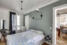 Camera da letto in stile in stile Scandinavo di bypierrepetit