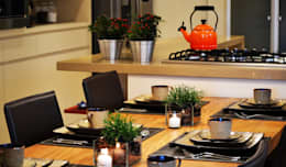 Cocina de estilo  por Helô Marques Associados