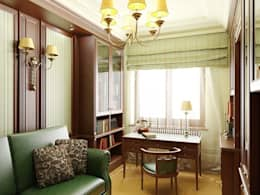 Дизайн интерьера кабинета в классическом стиле: Рабочие кабинеты в . Автор – Архитектурное Бюро 'Капитель'