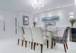 Sala de Jantar: Salas de jantar clássicas por Milla Holtz Arquitetura