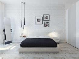 Dormitorios de estilo minimalista por Оксана Мухина