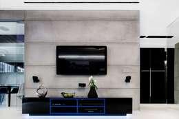 ART. – SPORT – RELAX  Warszawa - mieszkanie 90 m2 : styl , w kategorii Pokój multimedialny zaprojektowany przez TG STUDIO