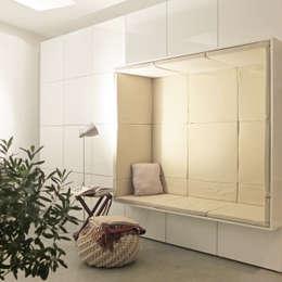 Projekty,  Salon zaprojektowane przez qbus architektur  & innenarchitektur