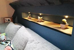 Rénovation d'un appartement: Salon de style de style Moderne par AD2