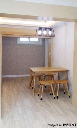 modern Dining room by 인벤트 디자인