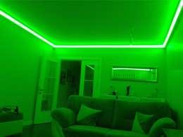 LEDPİYER – Rengarenk tavanlar-Gizli aydınlatma,dekoratif ışıklı kartonpiyer ve bordür sistemleri; LEDPiYER: modern tarz Yemek Odası