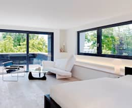 Recámaras de estilo minimalista por Gritzmann Architekten