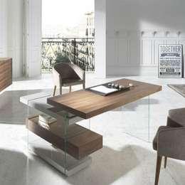 Estilos diferentes para tu mesa de escritorio - Mesa estudio cristal ...