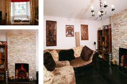 Livings de estilo asiático por GOAStudio   London residential architecture