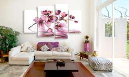 Orquídeas en el espejo de agua: Salones de estilo tropical de BIMAGO