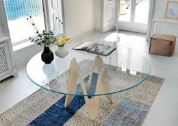 modern Dining room by Glassdomain