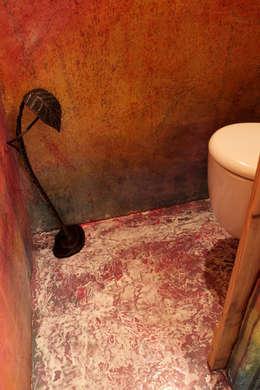 Pavimento e pareti: Pareti & Pavimenti in stile in stile Rustico di Elena Milani Arti visive e Design