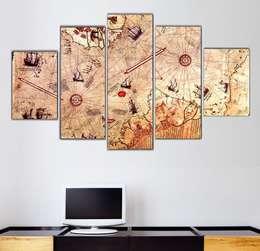 Ratolye Ahşap Tasarım Atölyesi – Parçalı Kanvas Tablolar: modern tarz Duvar & Zemin