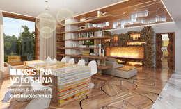 kristinavoloshina: modern tarz Oturma Odası