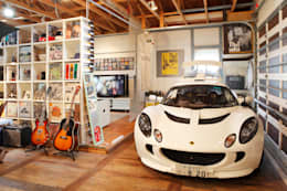 Garage / Hangar de style de stile Rural par J-STYLE GARAGE Co.,Ltd.
