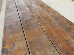 Antique Reclaimed Pine T&G Floorboards: classic Bathroom by UK Architectural Antiques
