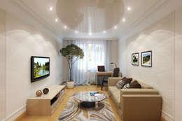 Salas / recibidores de estilo  por Студия интерьера 'SENSE'