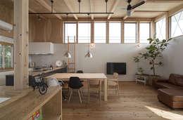 modern Living room by 株式会社建楽設計