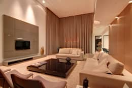 Projekty,  Salon zaprojektowane przez ÓBVIO: escritório de arquitetura