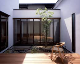Jardines de estilo ecléctico por 飯塚建築工房
