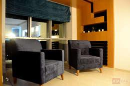 ROAS Mimarlık – Özel Köşe Detayı - Salon: modern tarz Oturma Odası