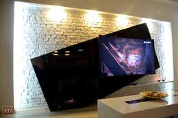 ROAS Mimarlık – Tv Ünite - Salon : modern tarz Oturma Odası