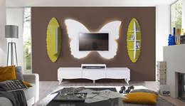 Füme Mobilya – Kelebek Tv hardal: modern tarz Oturma Odası