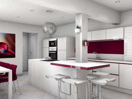 Villa T6 - 170m²: Cuisine de style de style Moderne par Tiffany Couble