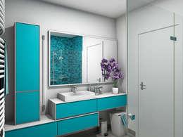 Appartement T3 - 89 m²: Salle de bains de style  par Tiffany Couble