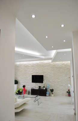 غرفة المعيشة تنفيذ Salvatore Nigrelli Architetto