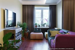Квартира на Петроградке в колониальном стиле: Гостиная в . Автор – Ольга Кулекина - New Interior