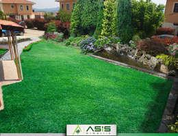 asis mimarlık peyzaj inşaat a.ş. – Sultan Konakları Villa Projesi Tasarımı Ve Uygulaması: modern tarz Bahçe