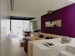 Salas de estilo moderno por Barcelona Pintores.es