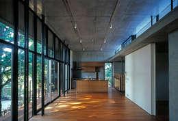 大銀杏の家: HAN環境・建築設計事務所が手掛けたリビングです。