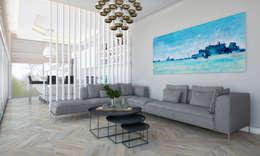 Voltaj Tasarım – AA EVİ: minimal tarz tarz Oturma Odası
