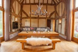 Comedores de estilo rústico por Port Wood Furniture Studio