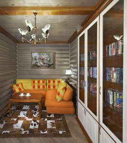 Архитектурная студия 'Солнечный дом': kırsal tarz tarz Yatak Odası