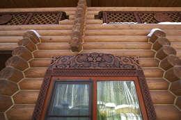 Резьба на фасаде: Дома в . Автор – Архитектурная студия 'Солнечный дом'