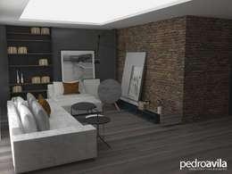 Salas / recibidores de estilo moderno por pedroavila.com.mx