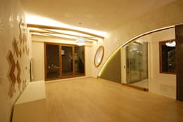santimetre mimarlık – EYMEN RESİDENCE : modern tarz Oturma Odası