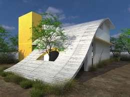 CASA DE CAMPO: Casas de estilo moderno por HEXSAL ARQUITECTOS