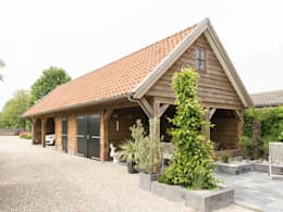 country Garage/shed by Geldersche Houtbouw