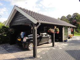 Houten garages: landelijke Garage/schuur door Geldersche Houtbouw