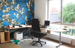 Werkkamer met uitzicht: moderne Studeerkamer/kantoor door PAA  Pattynama Ahaus Architectuur
