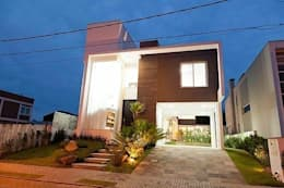 Casas de estilo moderno por ANDRÉ PACHECO ARQUITETURA
