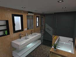 Projet final: Salle de bains de style  par Brice Bataille
