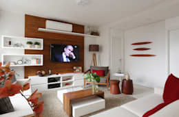 ausgefallene Wohnzimmer von Duda Senna Arquitetura e Decoração