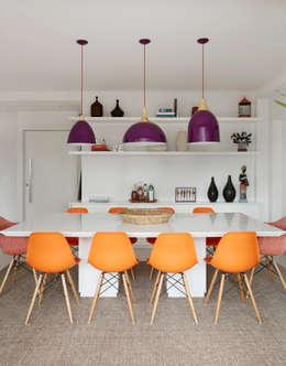 Duda Senna Arquitetura e Decoração: eklektik tarz tarz Yemek Odası