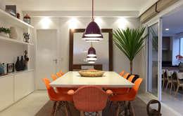 Sala de Jantar: Salas de jantar ecléticas por Duda Senna Arquitetura e Decoração
